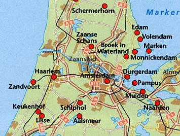 Cartina Amsterdam.Amsterdam Den Haag Volendam
